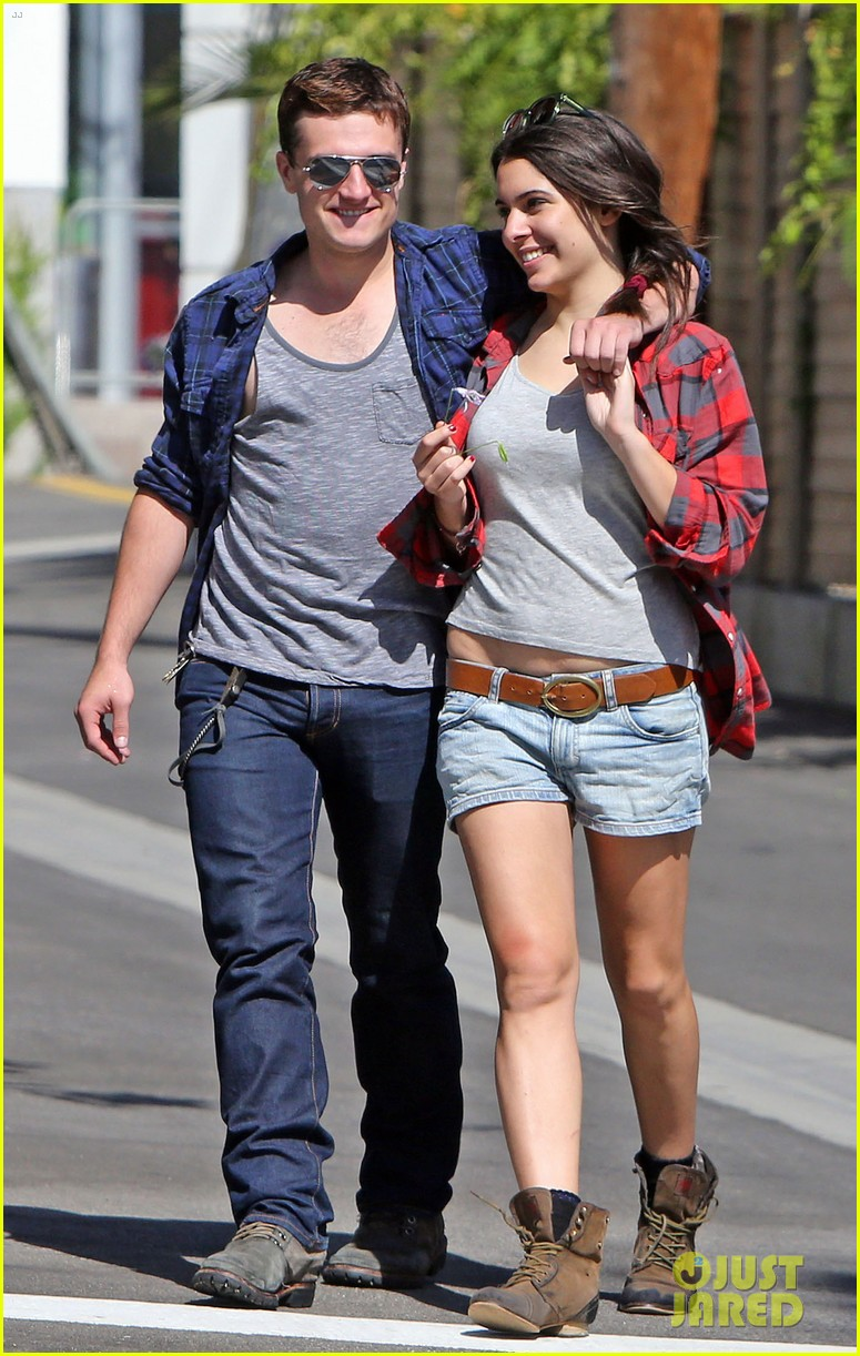 josh hutcherson claudia traisac kiss after motorcycle ride 052896634