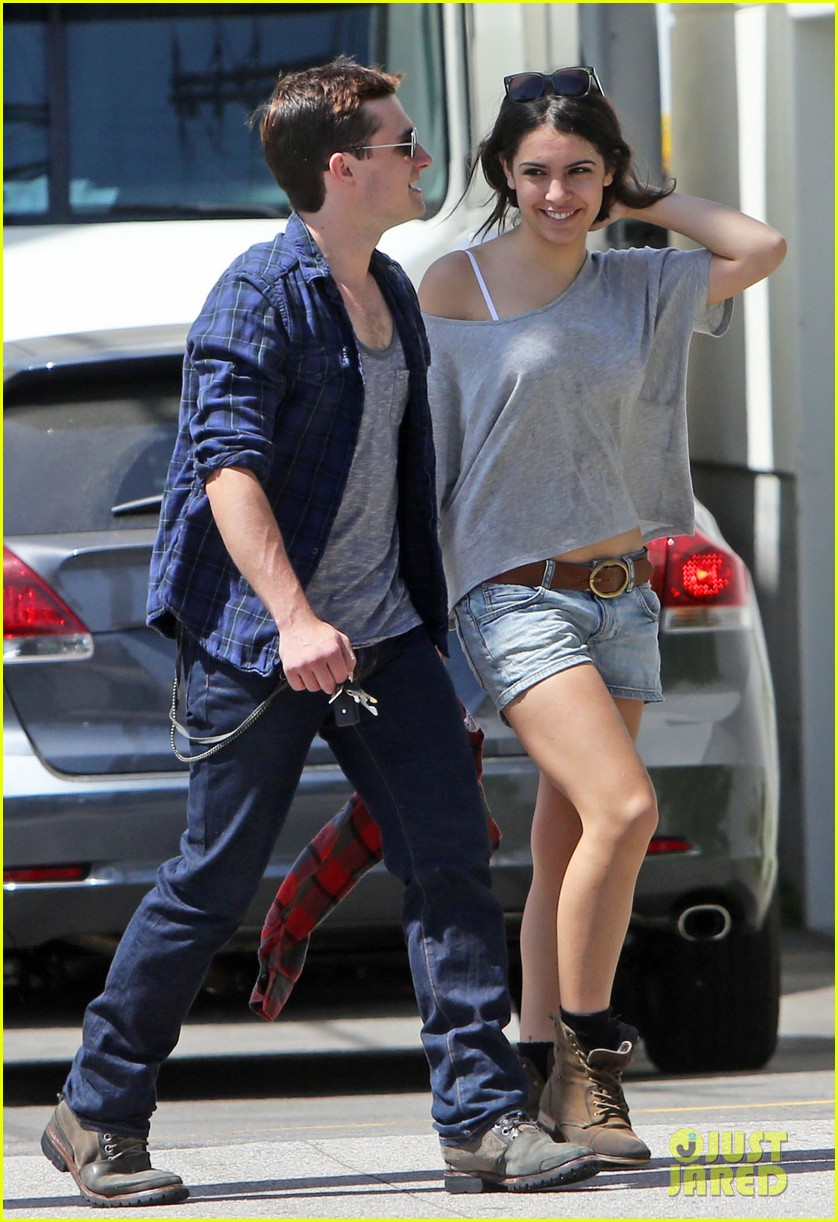 josh hutcherson claudia traisac kiss after motorcycle ride 092896638
