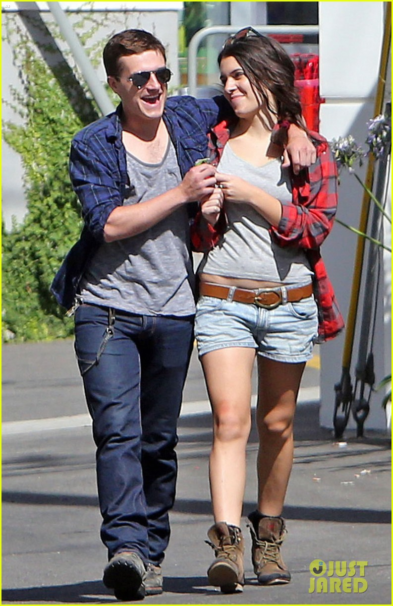 josh hutcherson claudia traisac kiss after motorcycle ride 102896639