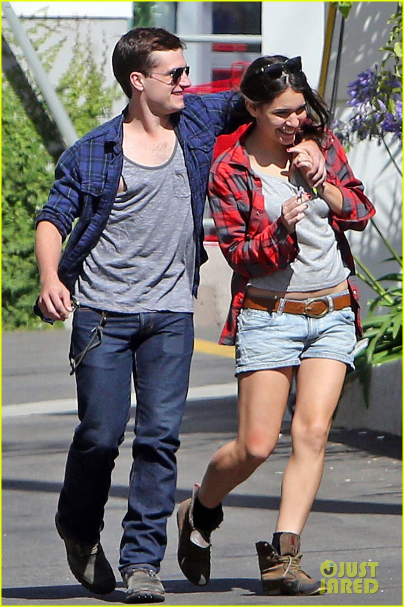 josh hutcherson claudia traisac kiss after motorcycle ride 112896640