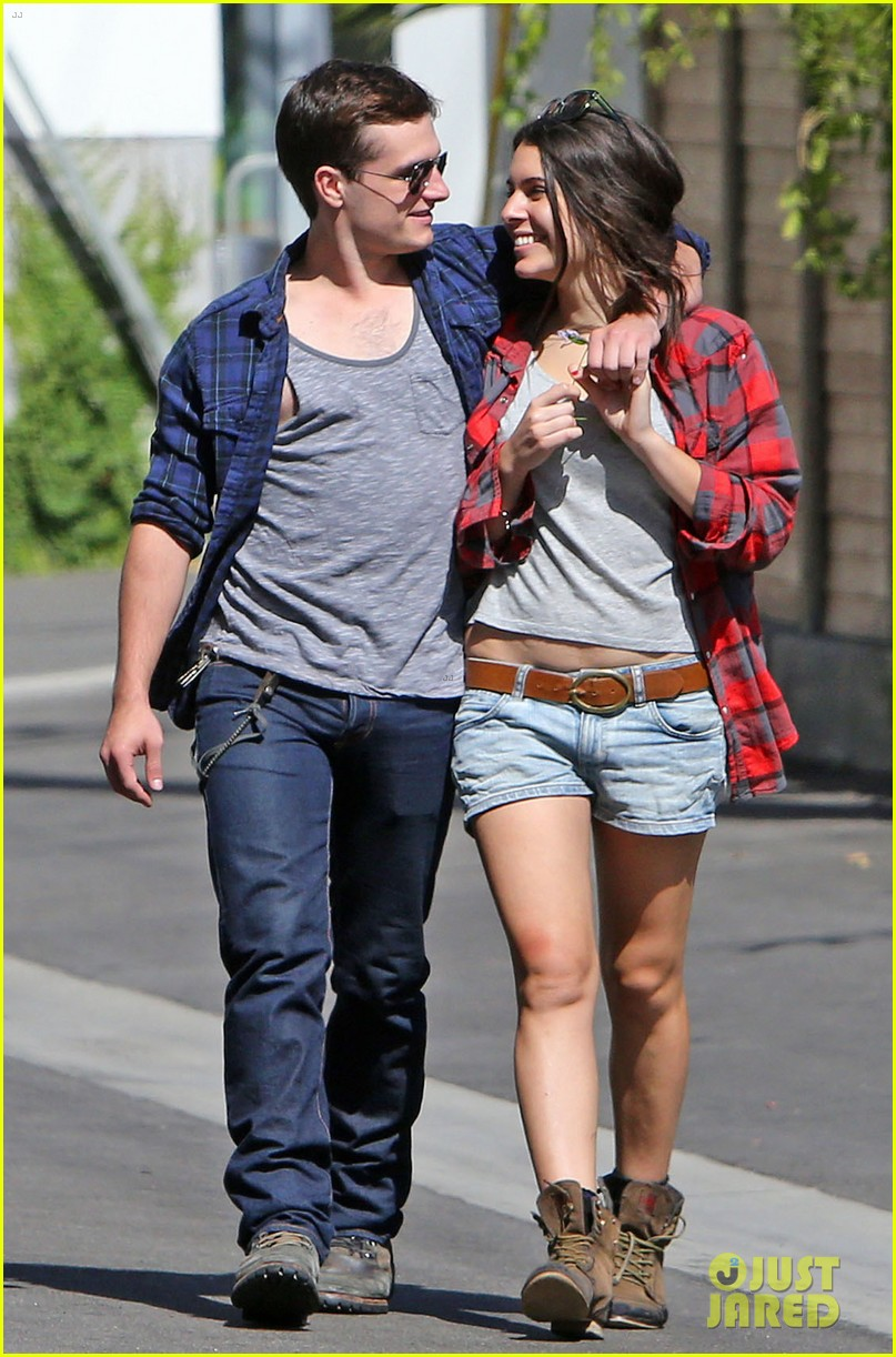 josh hutcherson claudia traisac kiss after motorcycle ride 132896642