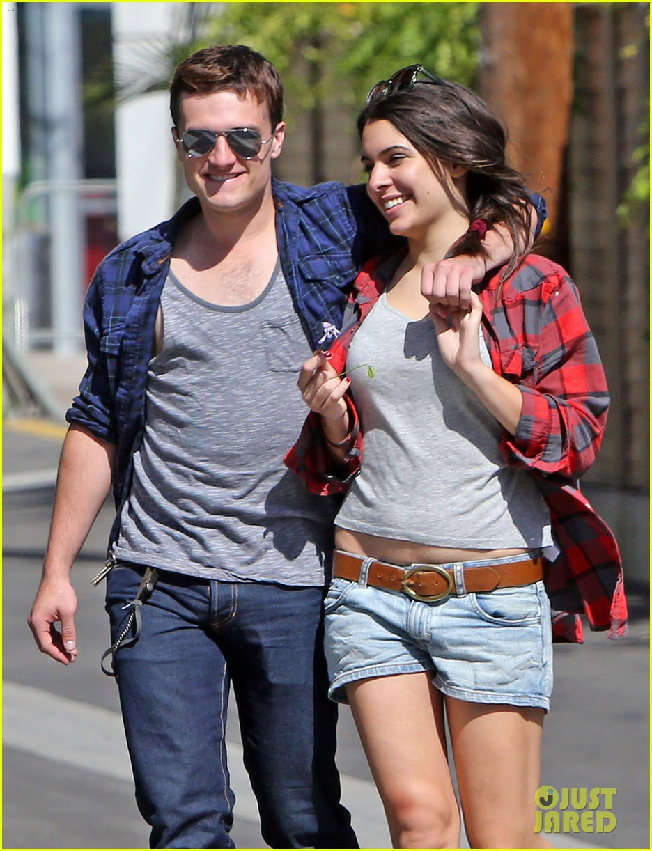 josh hutcherson claudia traisac kiss after motorcycle ride 172896646