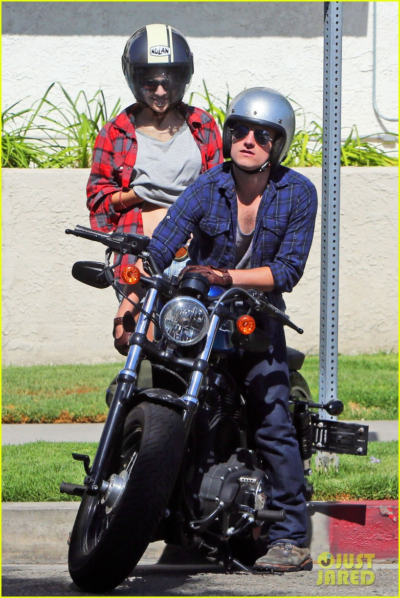 josh hutcherson claudia traisac kiss after motorcycle ride 242896653