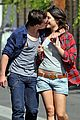 josh hutcherson claudia traisac kiss after motorcycle ride 02