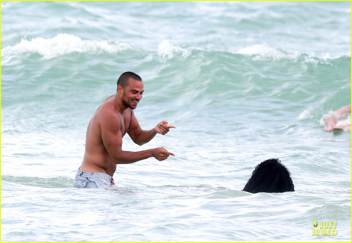 jesse williams shirtless miami vacation 132890391