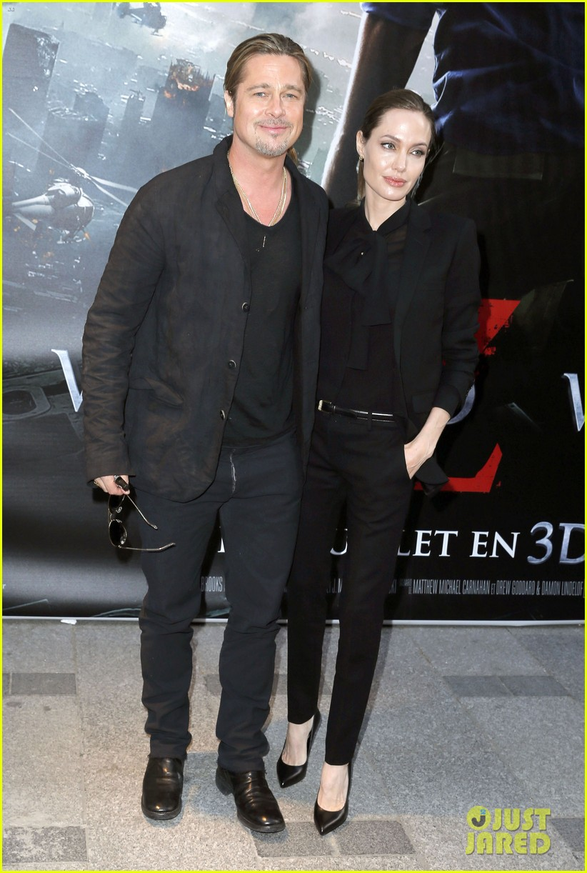 angelina jolie brad pitt world war z paris premiere 012883642