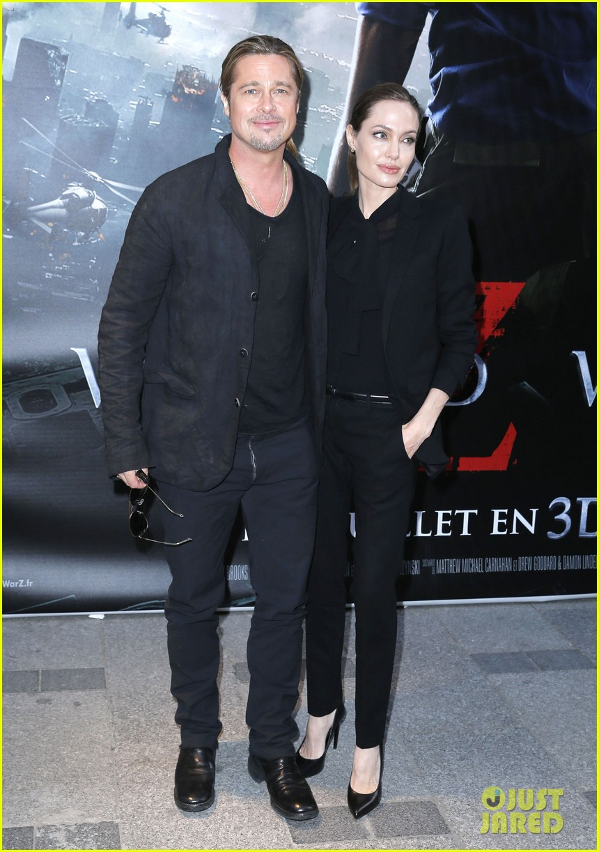 angelina jolie brad pitt world war z paris premiere 052883646