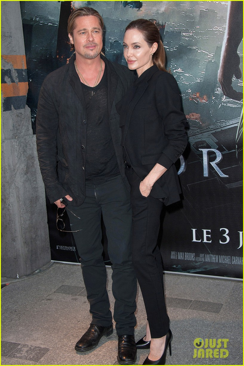 angelina jolie brad pitt world war z paris premiere 132883654