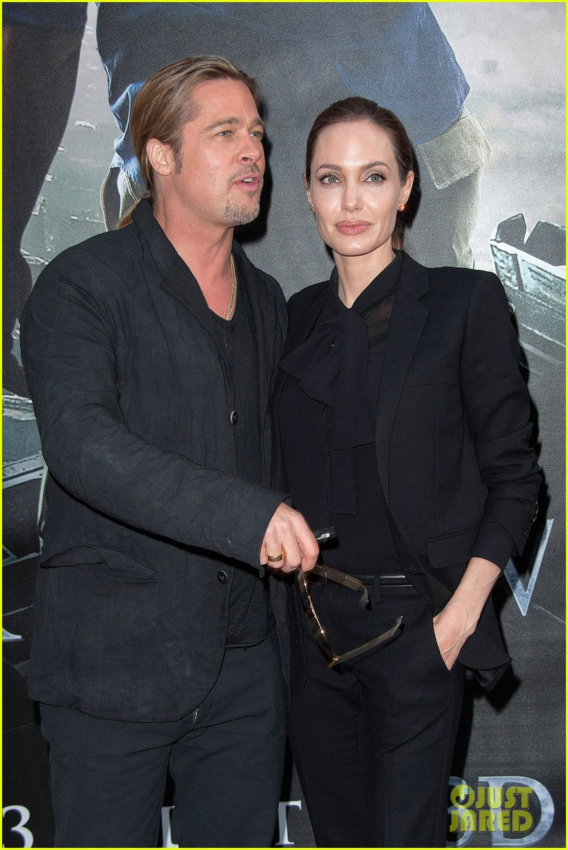 angelina jolie brad pitt world war z paris premiere 192883660