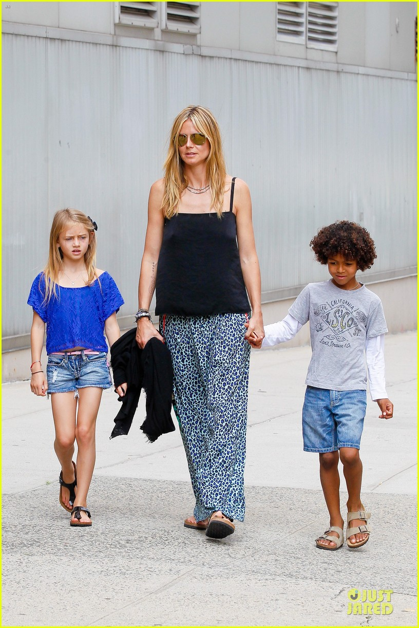 heidi klum i saved my kids hair for art projects 17