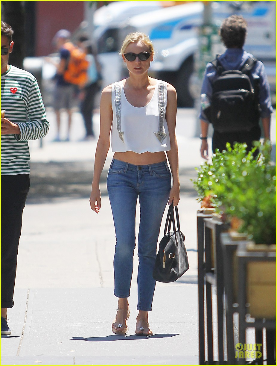 diane kruger midriff baring lunch with micah schifman 012891967