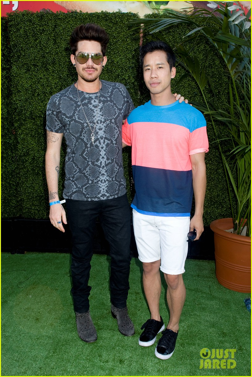 adam lambert hammer time at just jared summer kick off party presented by mcdonalds 032883181