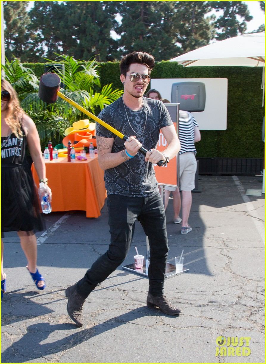 adam lambert hammer time at just jared summer kick off party presented by mcdonalds 102883188
