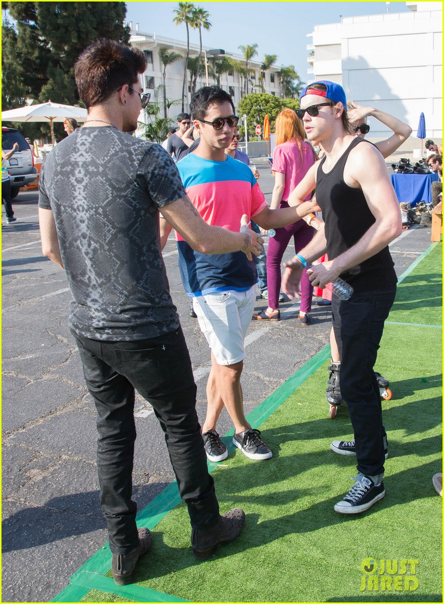adam lambert hammer time at just jared summer kick off party presented by mcdonalds 142883192