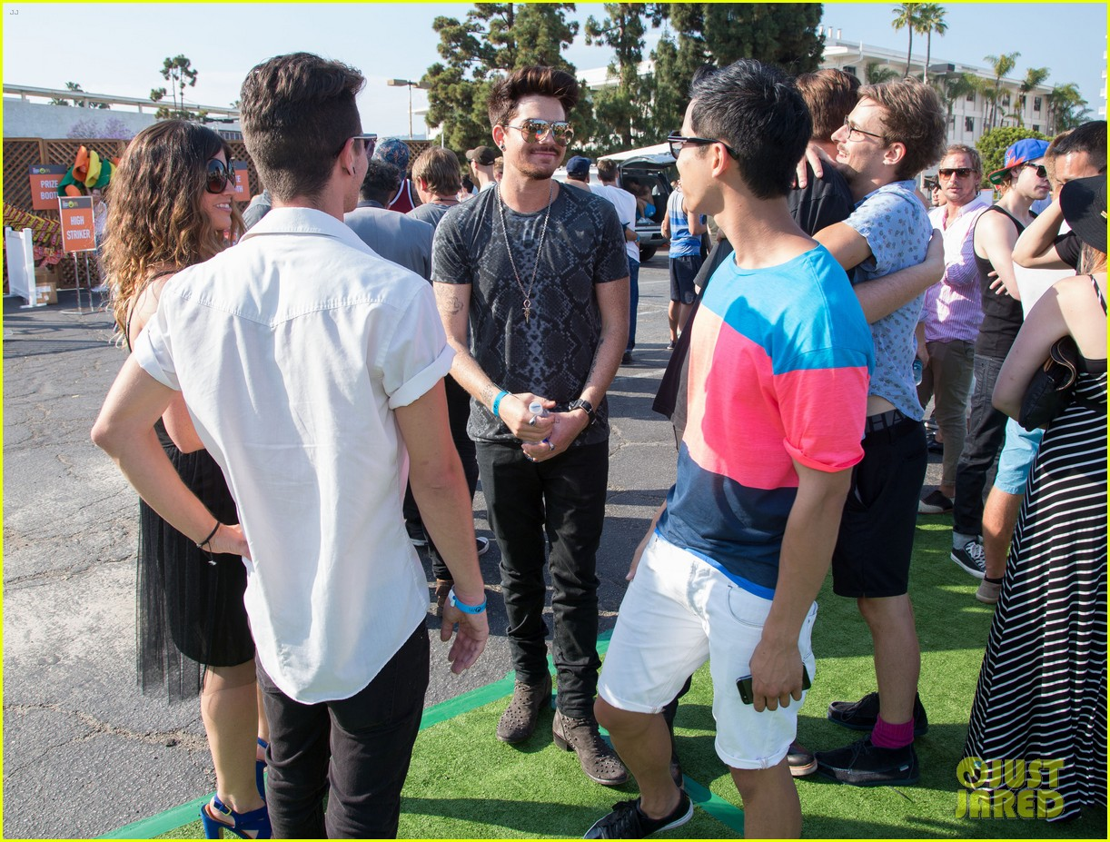 adam lambert hammer time at just jared summer kick off party presented by mcdonalds 162883194