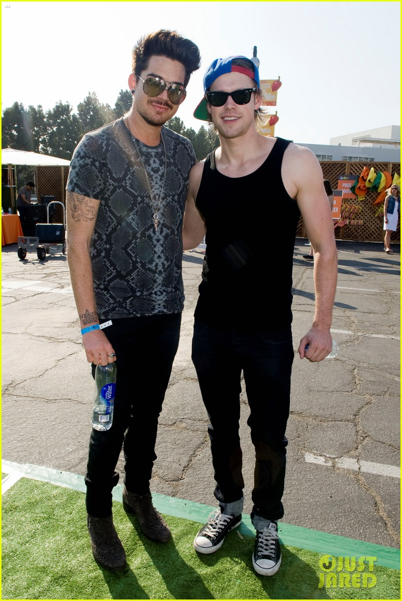 adam lambert hammer time at just jared summer kick off party presented by mcdonalds 182883196