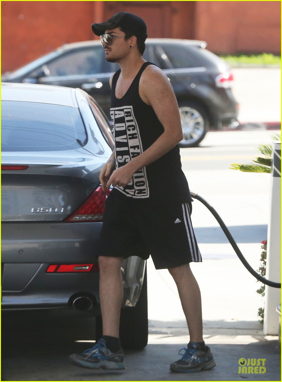 adam lambert rich fashion gas pumping 072883975