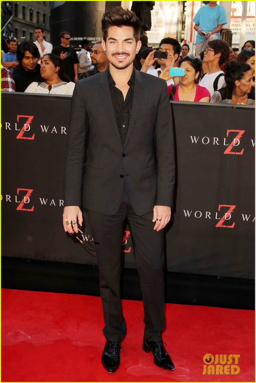adam lambert world war z nyc premiere 042893330