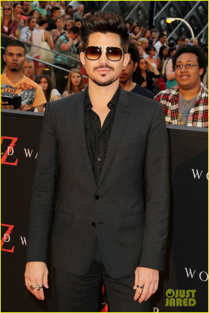 adam lambert world war z nyc premiere 072893333
