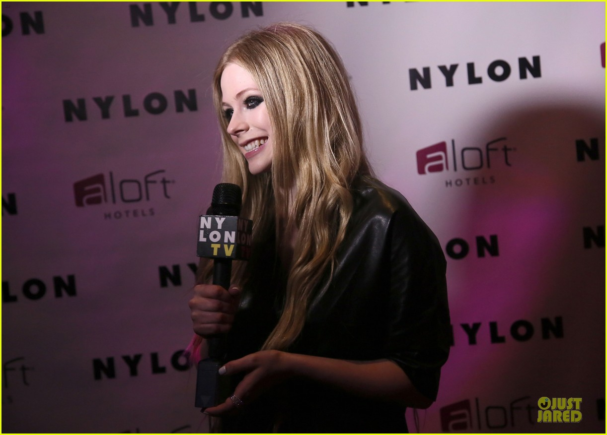 avril lavigne nylon magazine cover party 152889347
