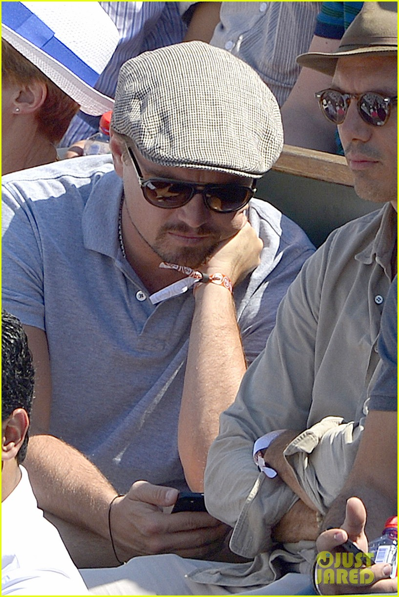 leonardo dicaprio watches rafael nadal beat novak djokovic 022886575