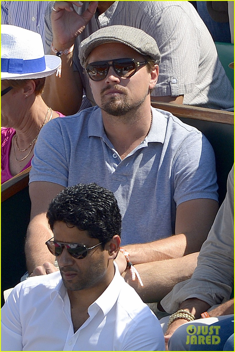 leonardo dicaprio watches rafael nadal beat novak djokovic 052886578
