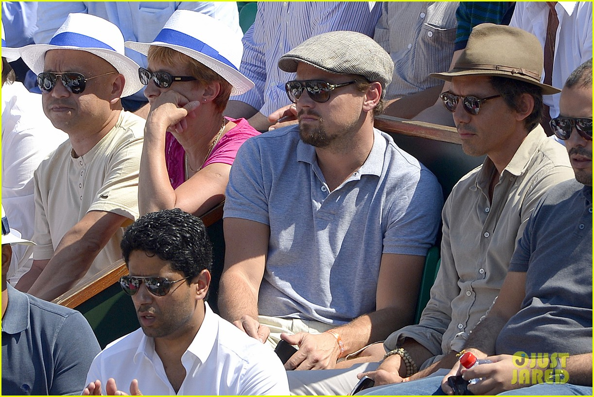 leonardo dicaprio watches rafael nadal beat novak djokovic 082886581