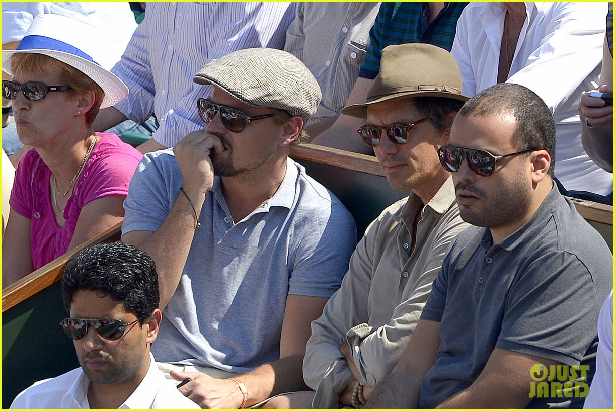 leonardo dicaprio watches rafael nadal beat novak djokovic 102886583