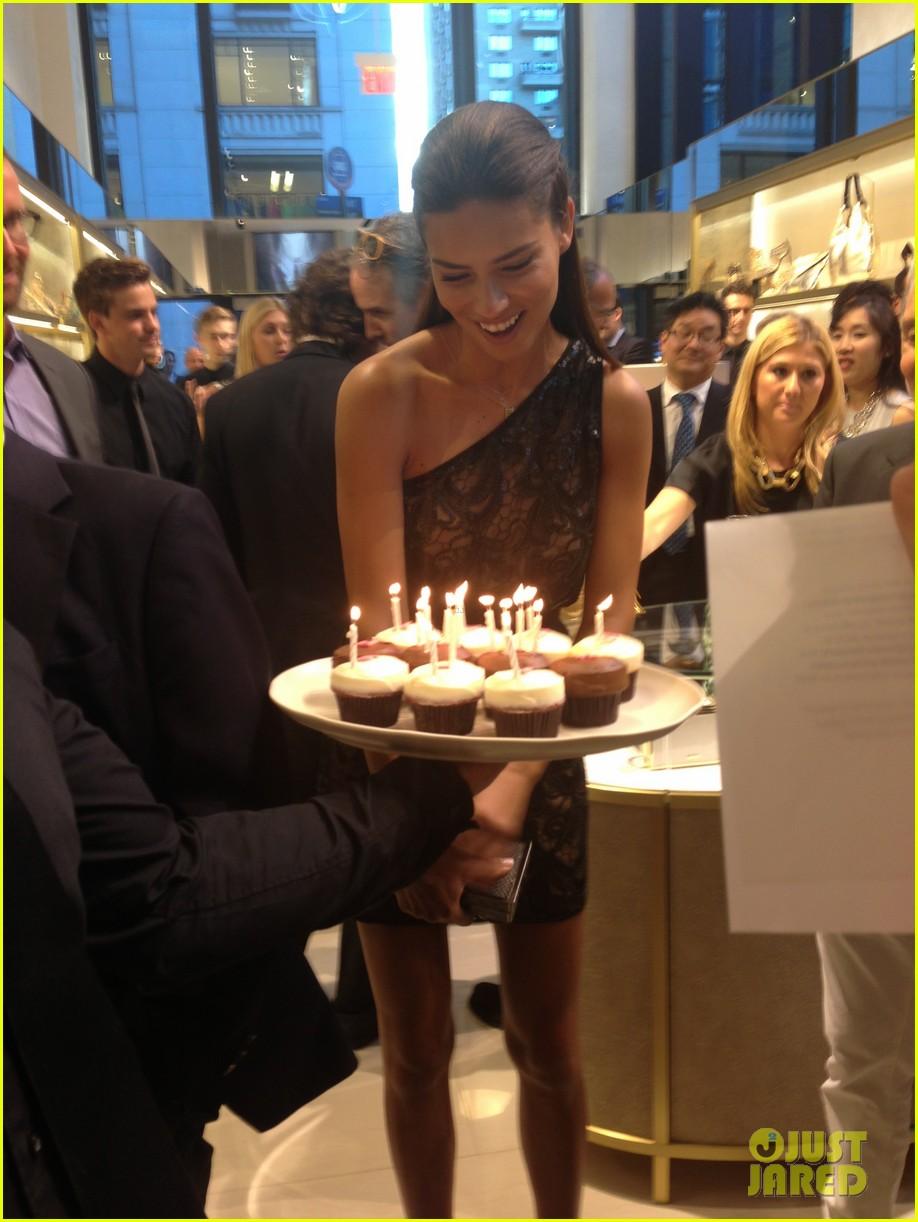 adriana lima birthday at vc store opening 062889851