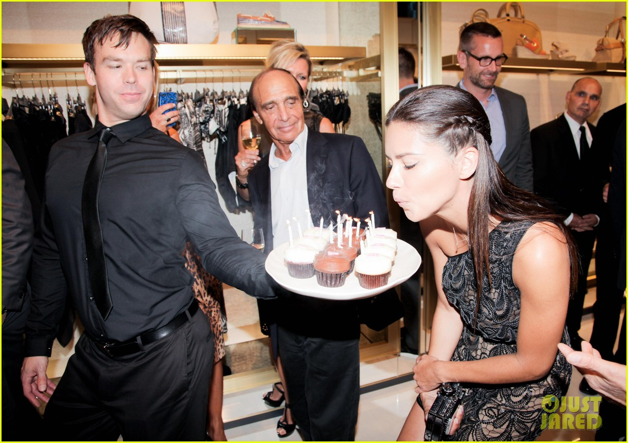 adriana lima birthday at vc store opening 072889852