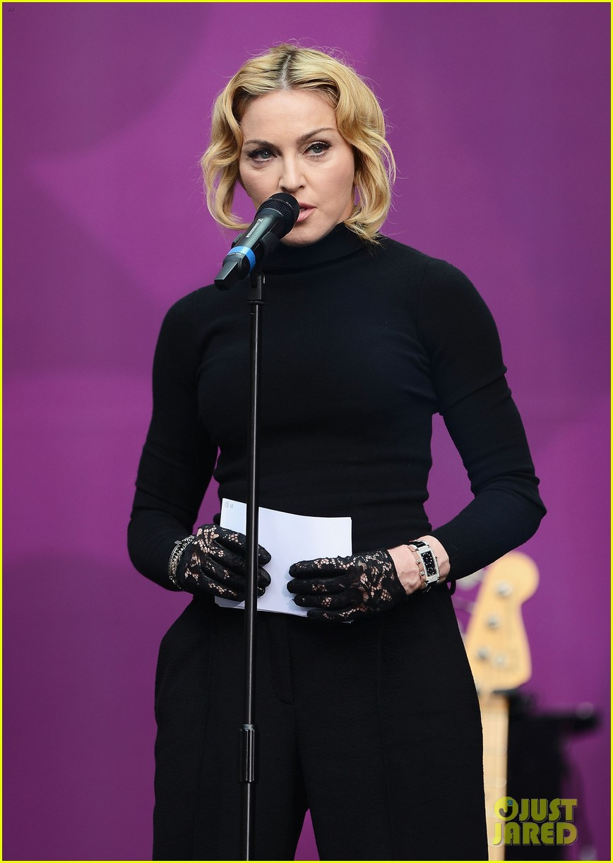 madonna speech at chime for change concert watch now 112882163
