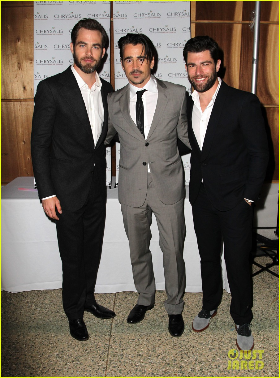 max greenfield colin farrell chrysalis butterfly ball 2013 with chris pine 05