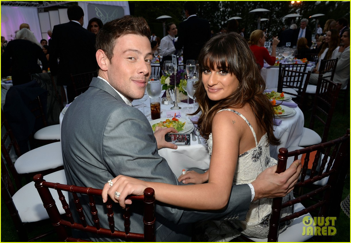 lea michele cory monteith chrysalis butterfly ball 022887339