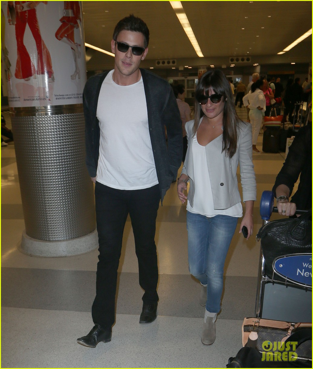 lea michele cory monteith so happy to be in new york 012893584