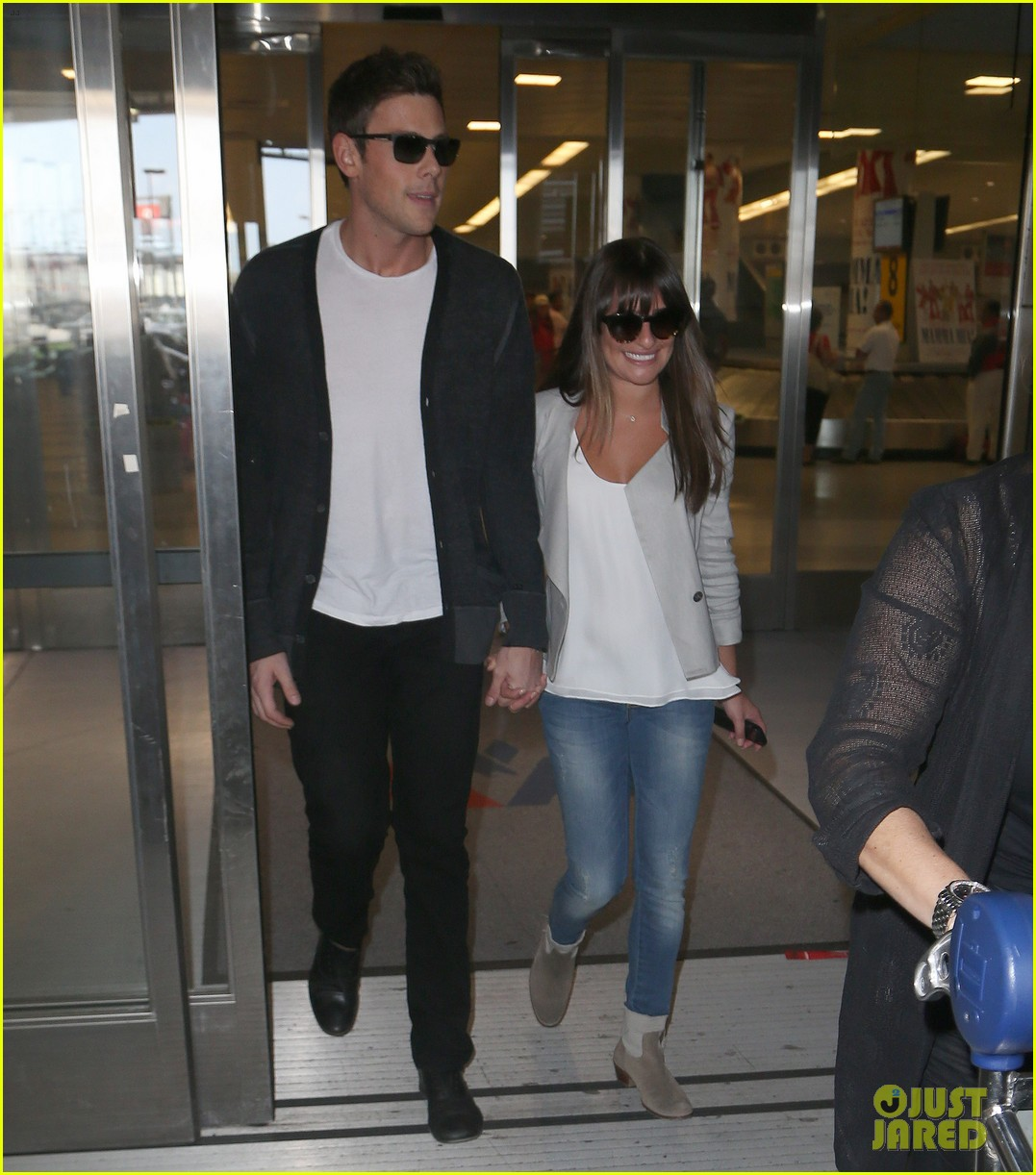 lea michele cory monteith so happy to be in new york 022893585