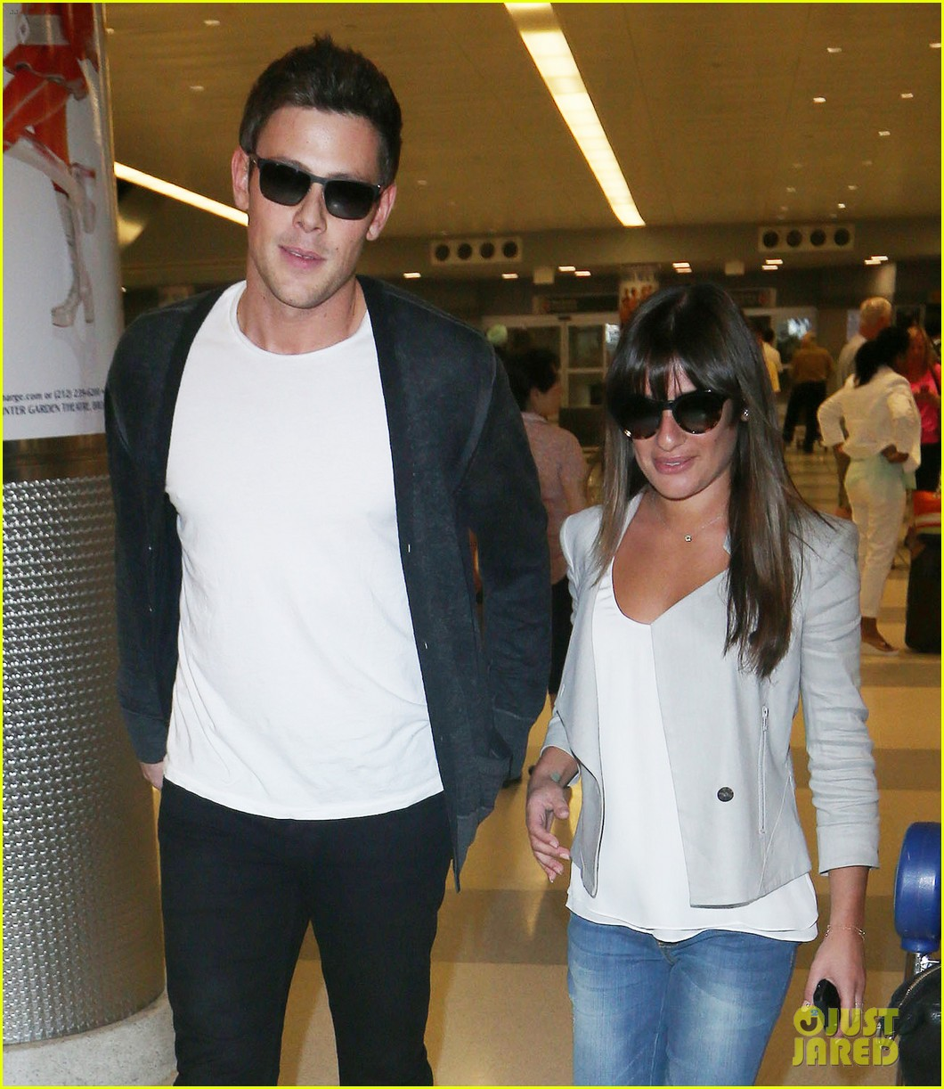 lea michele cory monteith so happy to be in new york 032893586