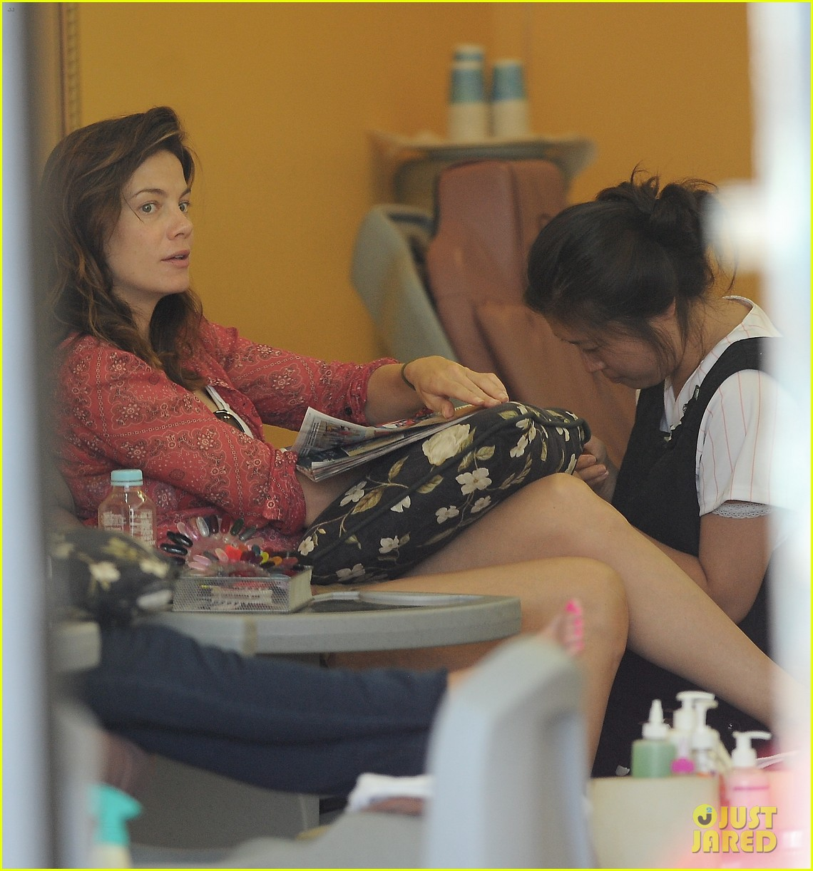 michelle monaghan visits the nail salon with willow 122896897