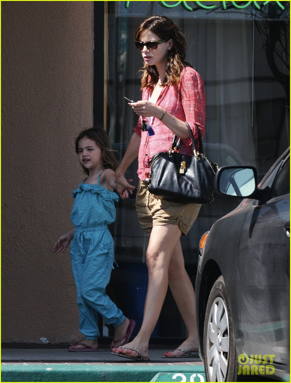 michelle monaghan visits the nail salon with willow 322896917