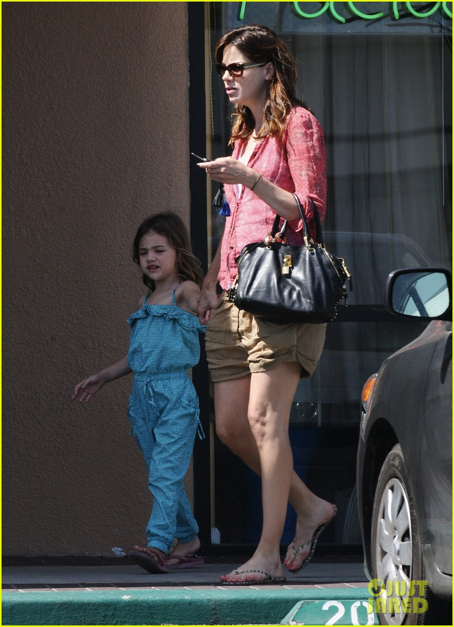 michelle monaghan visits the nail salon with willow 332896918