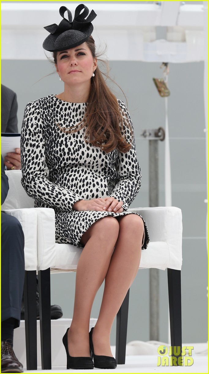 pregnant kate middleton baby bump at first ship christening 212890477