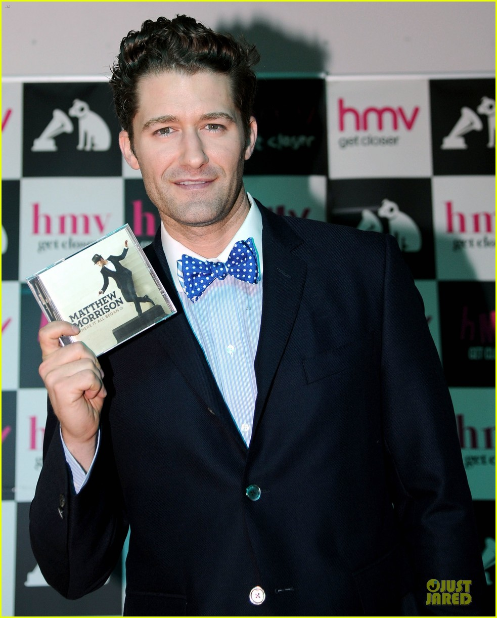 matthew morrison where it all began album signing 082894914