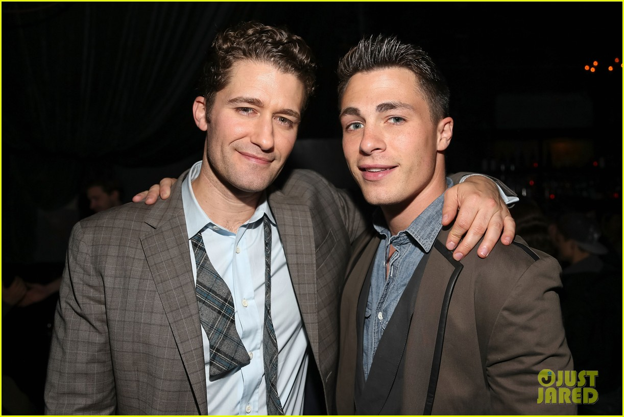 matthew morrison friends family show with colton haynes 052890759