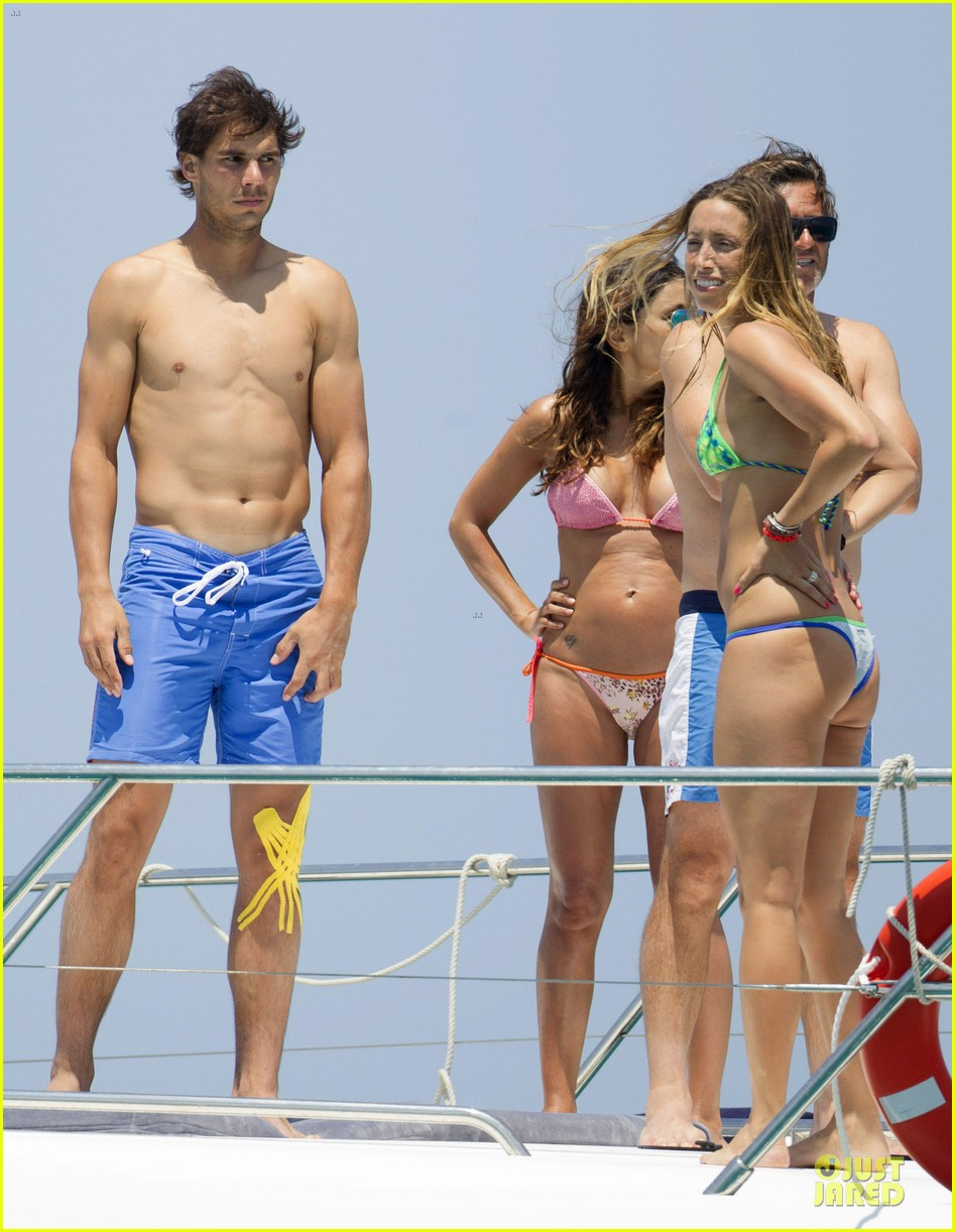 rafael nadal shirtless ibiza vacation with maria francisca perello 112901379
