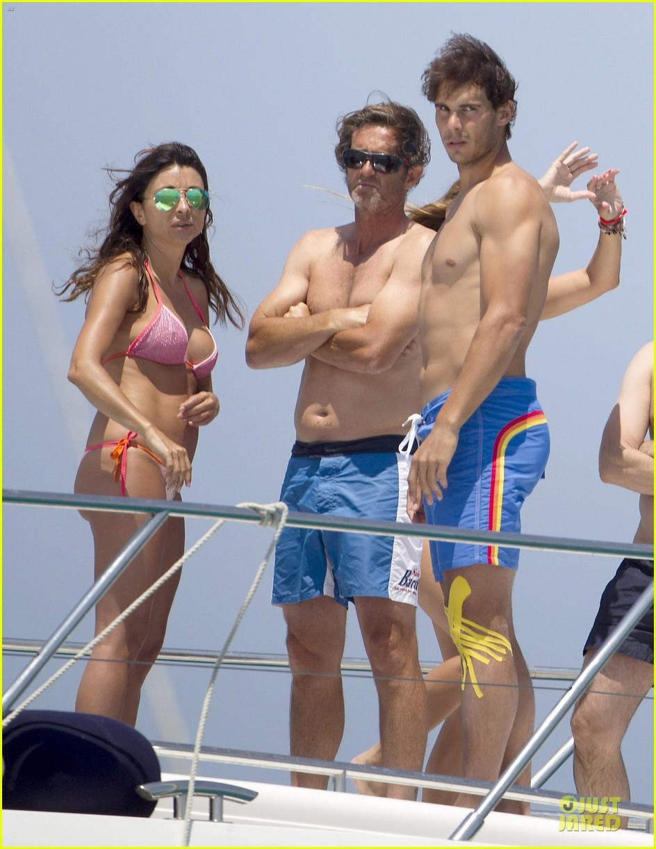 rafael nadal shirtless ibiza vacation with maria francisca perello 132901381