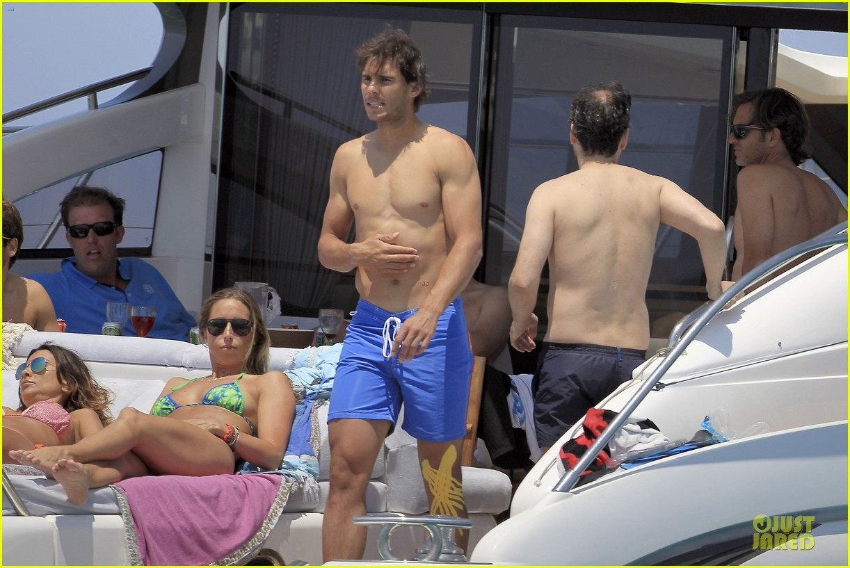 rafael nadal shirtless ibiza vacation with maria francisca perello 162901384