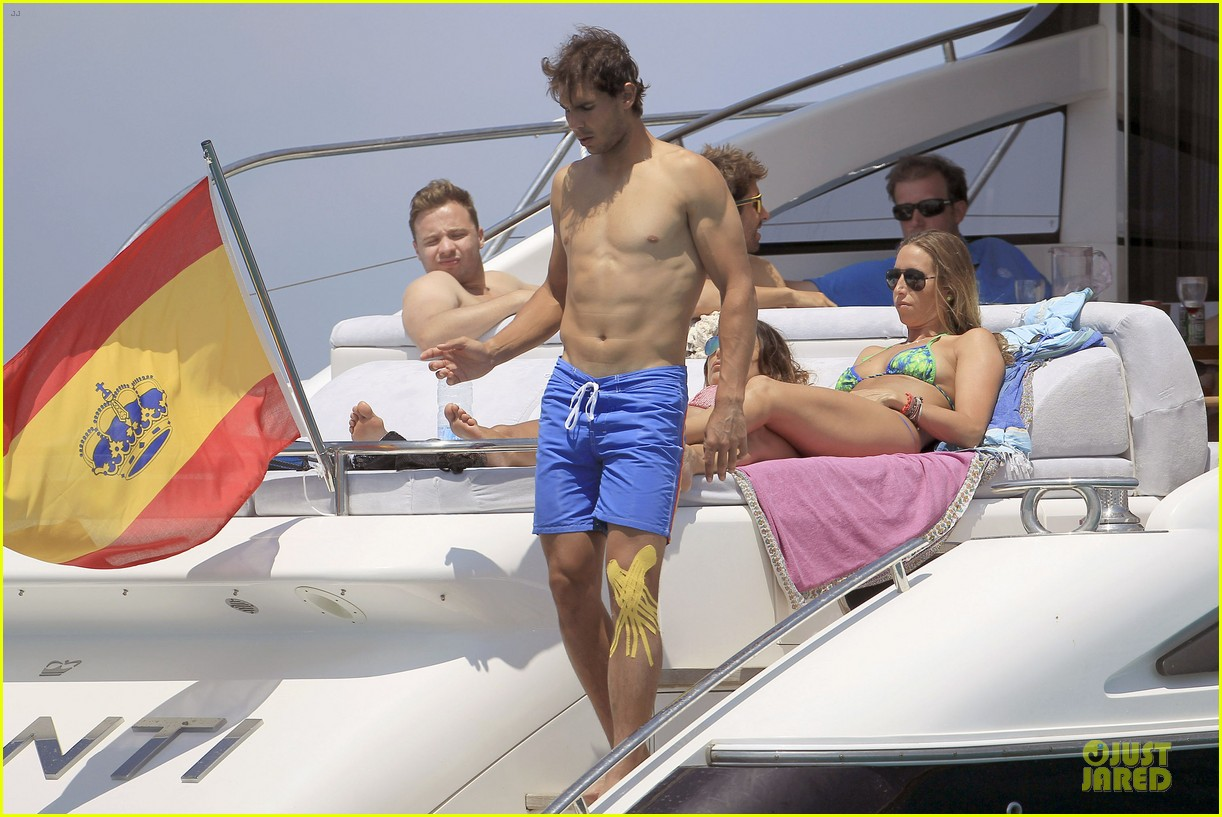 rafael nadal shirtless ibiza vacation with maria francisca perello 222901390