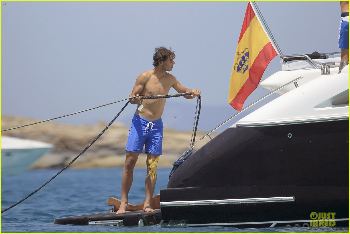rafael nadal shirtless ibiza vacation with maria francisca perello 252901393