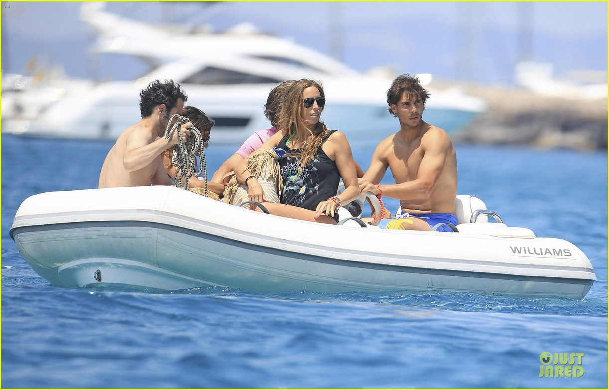 rafael nadal shirtless ibiza vacation with maria francisca perello 332901401