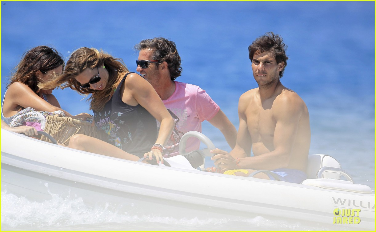 rafael nadal shirtless ibiza vacation with maria francisca perello 342901402