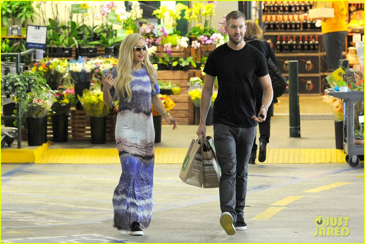 rita ora calvin harris cuddle up at whole foods 072895643
